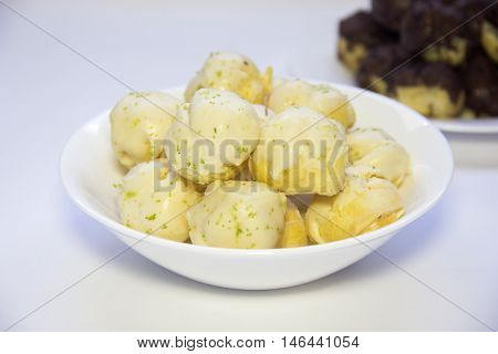 Chocolate And Sweet Lemon Cookie. Carolina, Sweet Typical Brazilian.