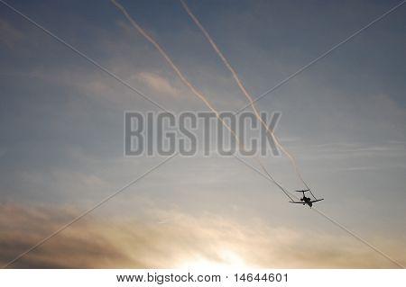 Vapor Trails on Landing