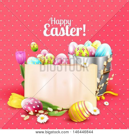 Colorful Easter Greeting Card