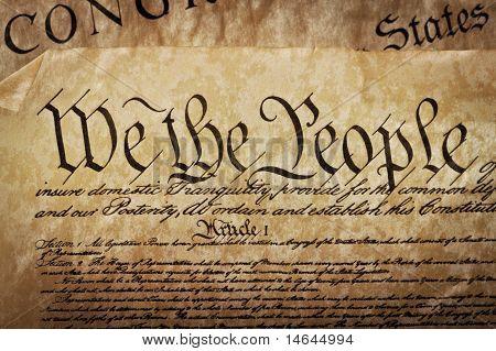 Nahaufnahme der US-Verfassung