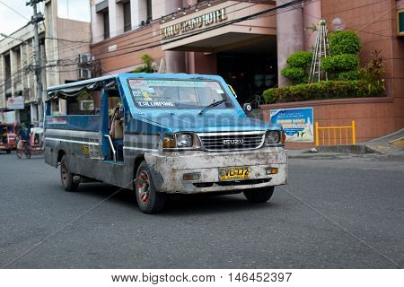 Filipino Public Taxi At Ilo Ilo City