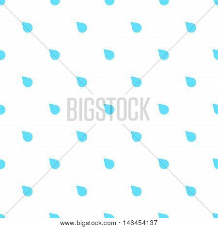 Rain doodle flat pattern seamless, isolated on white background. Downpour, rain weather rainfall. Natural effect with rain. Rain cartoon style