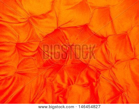 Bright Vivid Orange Fluffy Fabric Close Up