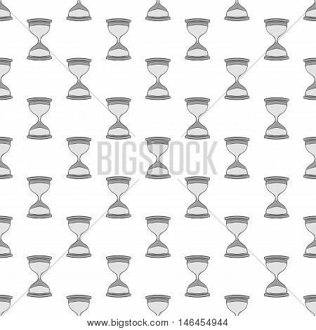 Hourglass seamless pattern on white background. Time design vector illustration