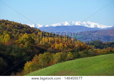 Mount Cusna Covered With Snow