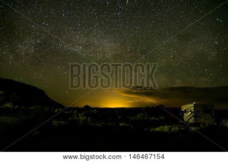 Moab Utah Arches National Parc Stars in the night 2
