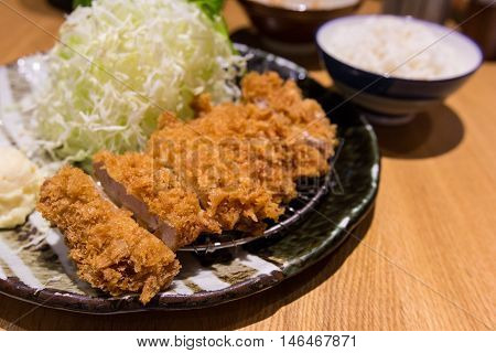 Fried Pork Meat, Japanese Food, Tonkatsu Style