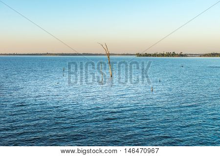 Submerged Branch On The Parana River In Itaipu Dam