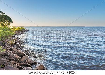 The Lake At The Parana River In Itaipu Dam
