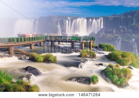 View Of The World Famous Iguazu Cataratas Falls