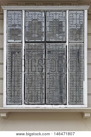 Leadlights Window Made of Small Glass and Supported in Lead Cames