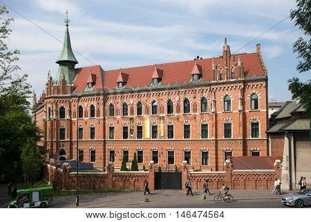 Catholic seminary near the Wawel Castle in Krakow. Poland.