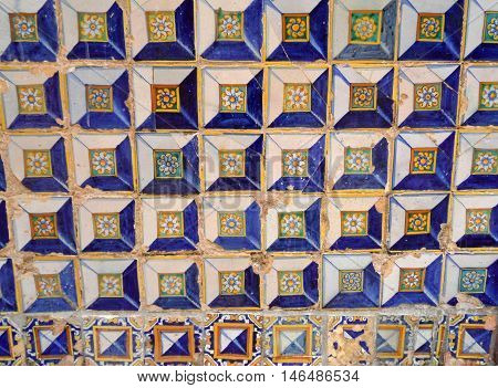 Painted Wall Pattern in the Palace of the Countess of Lebrija, Seville, Spain