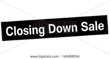 Rubber stamp with text cloding down sale inside vector illustration