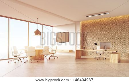 Sunlit Ceo Office Interior