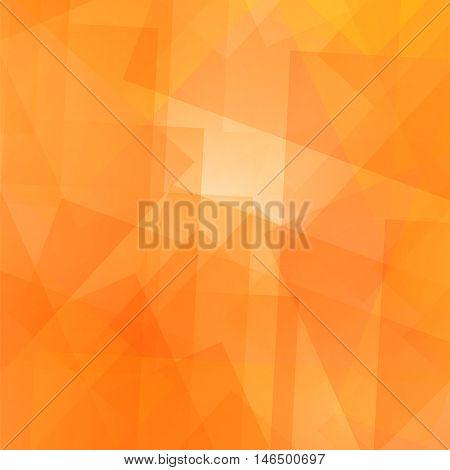 Abstract Orange Pattern. Geometric Orange Futuristic Background