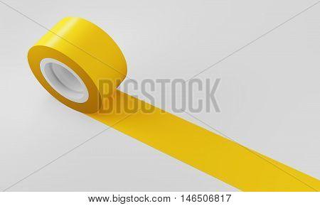 Yellow Tape Of Insulating Tape