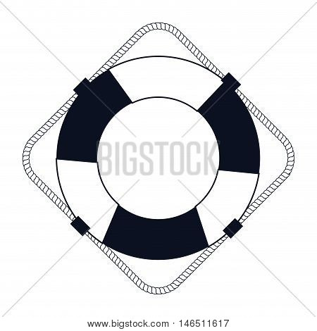classic nautical white float with stripes silhouette vector illustration