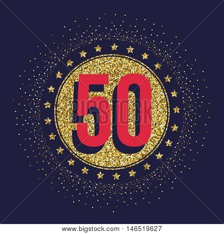 50th birthday vector Stock Vectors Royalty Free 50th