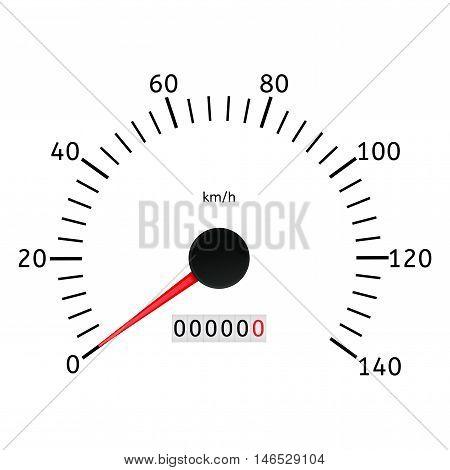 Speedometer. Speed gauge scale. Vector illustration on white background