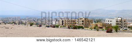 The city sky line of Aqaba Jordan.