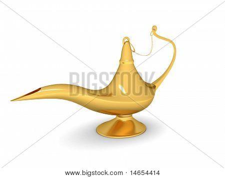 Golden Shiny Genie Lamp