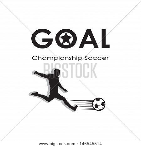 Goal icon. Goal logo. Soccer goal background. Football champion. Europa, 2016 Soccer goal illustration, black and white. 2016 Football vector. Europa Championship Soccer. For Art, Print, Web design. World Cup Soccer