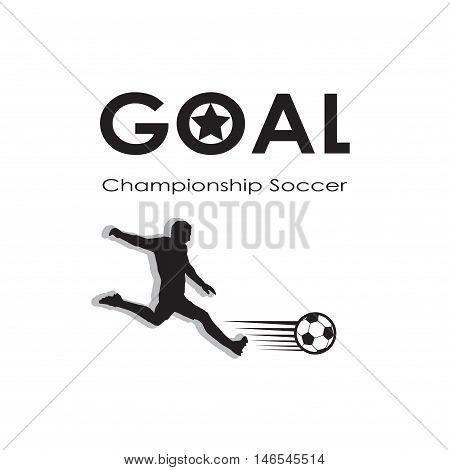 Goal icon. Goal logo. Soccer goal background. Football champion. Europa, 2016 Soccer goal illustration, black and white. 2016 Football vector. Europa Championship Soccer. For Art, Print, Web design. World Cup Soccer