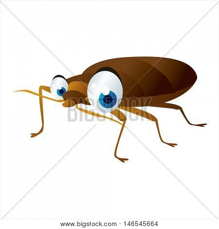 vector funny cute animal character illustration. suitable for logo, icon, book, card, invitation or sticker. Bedbug
