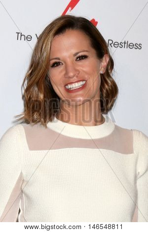 LOS ANGELES - SEP 8:  Melissa Claire Egan at the Young and The Resltless 11,000 Show Celebration at the CBS Television City on September 8, 2016 in Los Angeles, CA