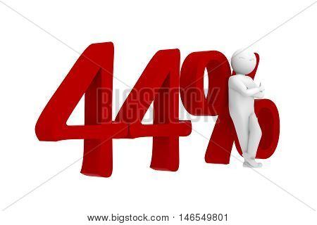 3D Human Leans Against A Red 44%