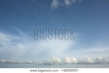 White cloudy  in the sky evening background