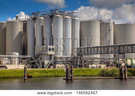 Storage Tanks Industrial Background