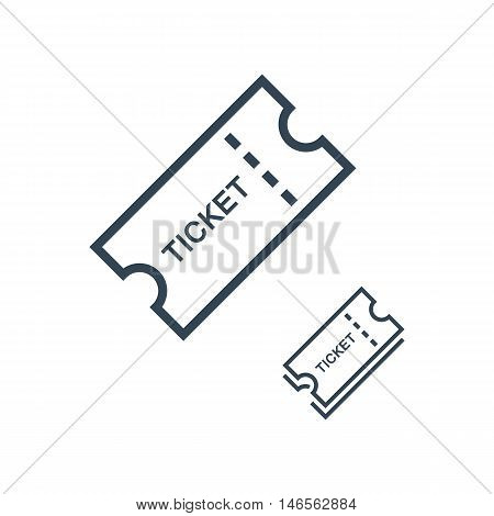 Set of Tickets icon on white background. Vector illustration.
