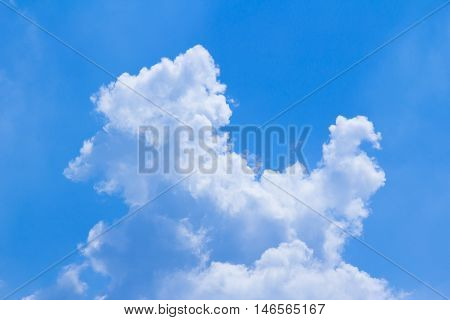 blue sky and cloud on bright day