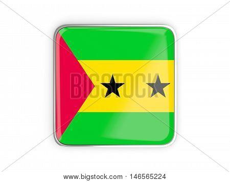 Flag Of Sao Tome And Principe, Square Icon