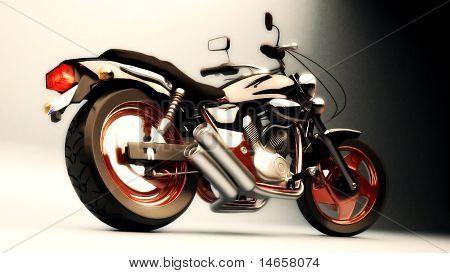 V Twin Magna Chopper image in jpeg format poster