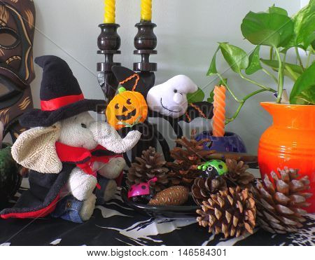 The Cutest Halloween Decoration for Living Room!! Greeting Card, Background
