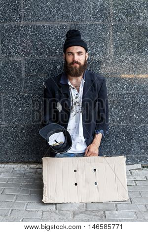 Vagrant on the street