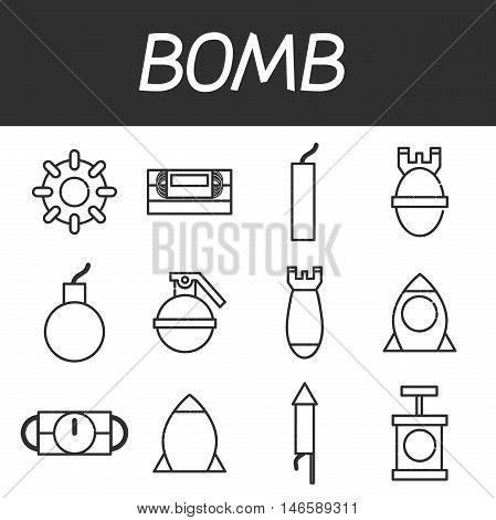 Bomb icons set. Vector illustration EPS 10