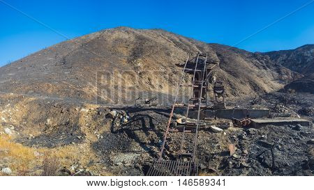 Mining Gear In Mountains