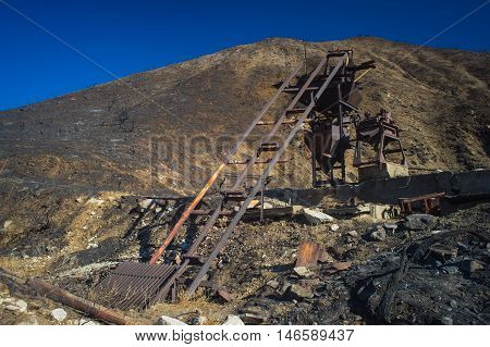 Tracks Of Mining Equipment