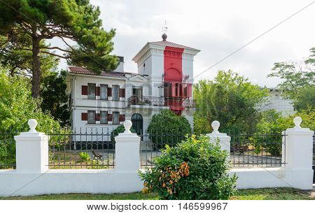 Gelendzhik lighthouse - the oldest operating lighthous on the Black Sea coast a monument of architecture. Founded on August 19 1897. The author of the building is considered to be a Frenchman François Joseph de Tondo. Lighthouse is located on Lermontov Bo