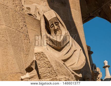 La Sagrada Familia Cathedral: Statue Of Peter