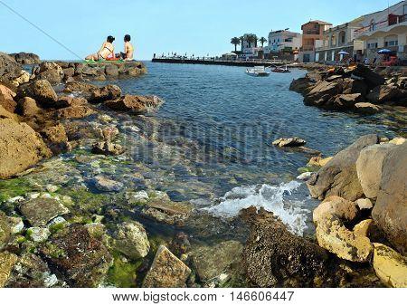 Hot italian mediterranian beach Santa e Marinella