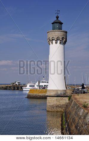 Lighthouse of Haliguen port at Quiberon in France