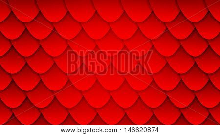 Background illustration with pattern of overlapping scales