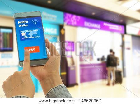 A digital wallet to pay in smart phone for goods and services to convenient and fast.