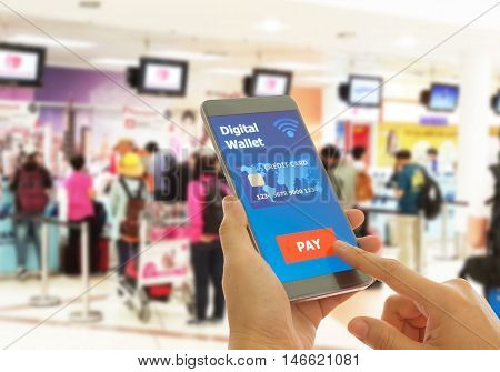 A digital wallet to pay for goods and services to convenient and fast.