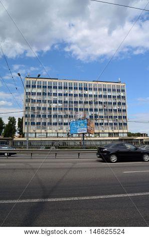 Antonov Design Bureau central office building.Till 2009 it was named AVIANT Kiev Aviation Plant.In past - producer of biggest cargo planes. September 10,2016 in Kiev, Ukraine